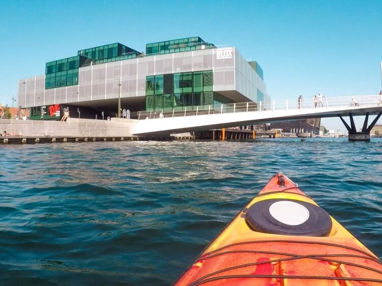 One of the most unique things to do in Copenhagen - paddling through the city canals on a kayak