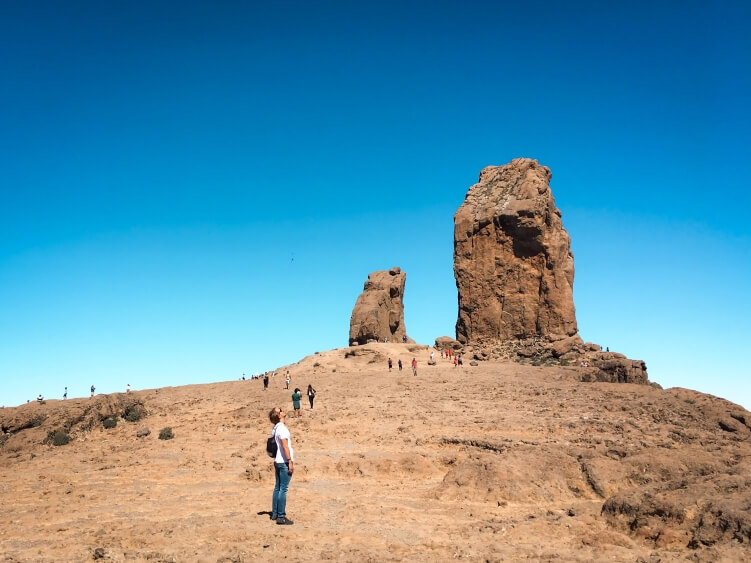 Roque Nublo volcanic rock formation in  Gran Canaria, Canary Islands