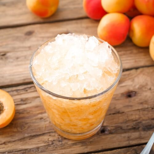 a glass full of granita, an icy sweet drink common in Sicily