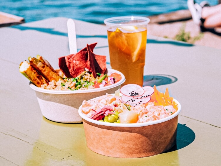 poke bowl and mexi bowl at Reffen street food