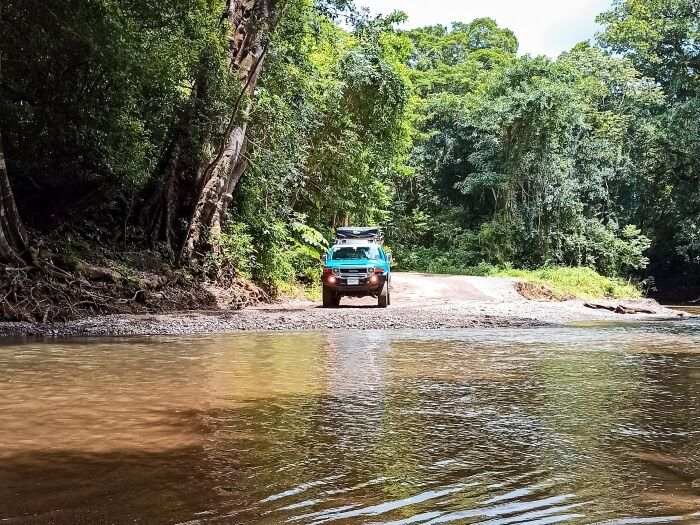 River crossing with a 4x4 car is a part of every great Costa Rica road trip