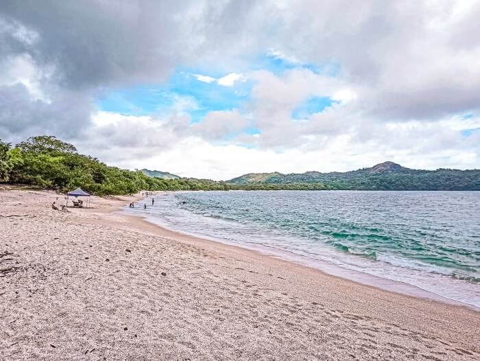 Playa Conchal in Costa Rica, a beach consisting entirely of white crushed seashells