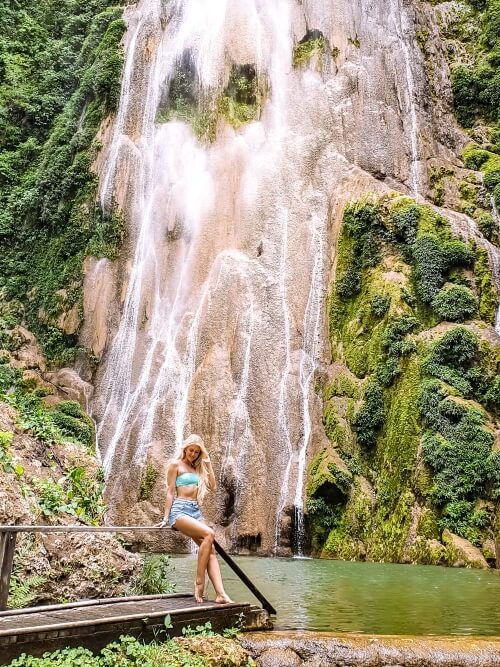 Boca da Onca waterfall in Bonito, an ecotourism hub that you should visit if you have 10 days in Brazil