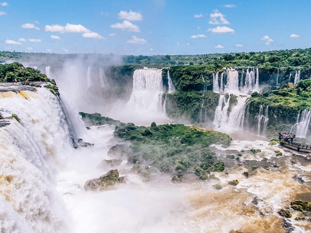 Visiting Iguazu Falls, one of the 7 Natural Wonders of the World