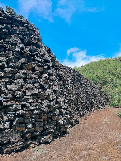 Wall of Tears on Isabela Island, one of the free things to do in Galapagos