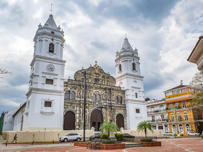 Panama Metropolitan Cathedral in the historic Casco Viejo district, one of the top attractions in Panama City