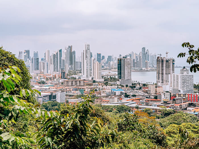 panoramic view from Cerro Ancon or the Ancon hill