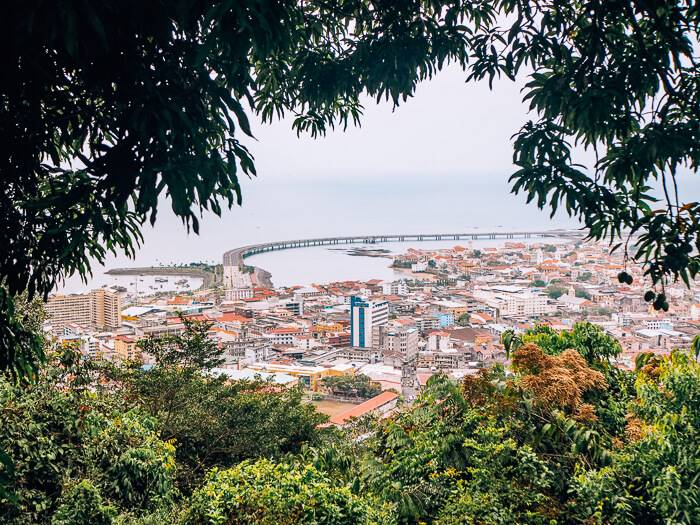 View from Cerro Ancon hike, one of the best things to do in Panama City for nature lovers