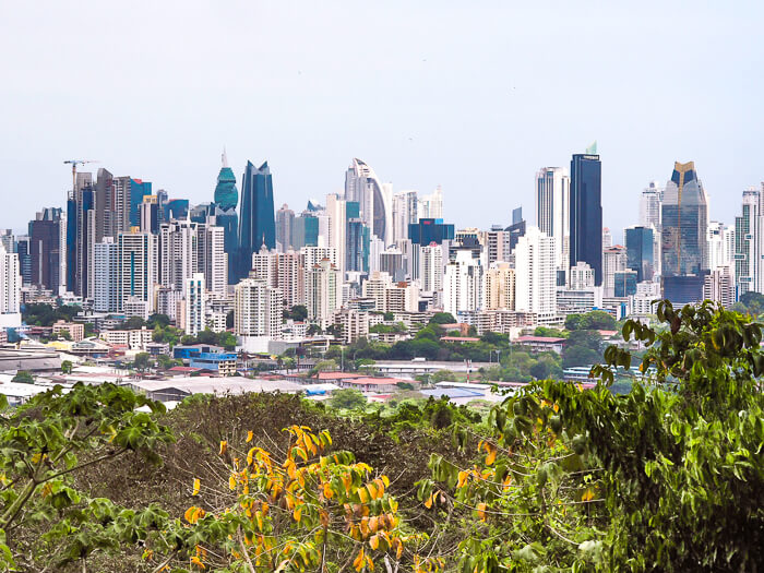 Panama City's high-rise buildings viewed from Metropolitan Natural Park, one of the coolest attractions in Panama City