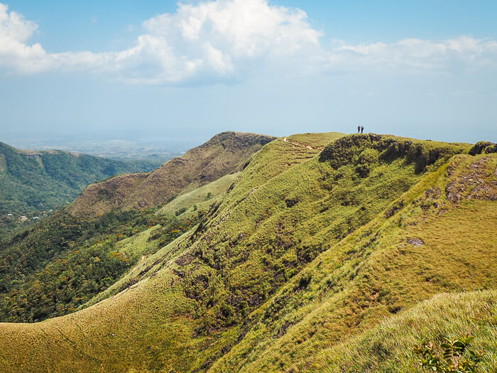 Green hills of La India Dormida mountain in El Valle de Anton, one of the best places for hiking in Panama